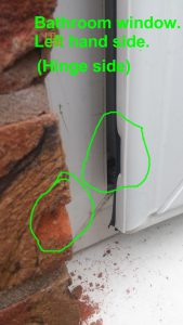 UPVC forced entry