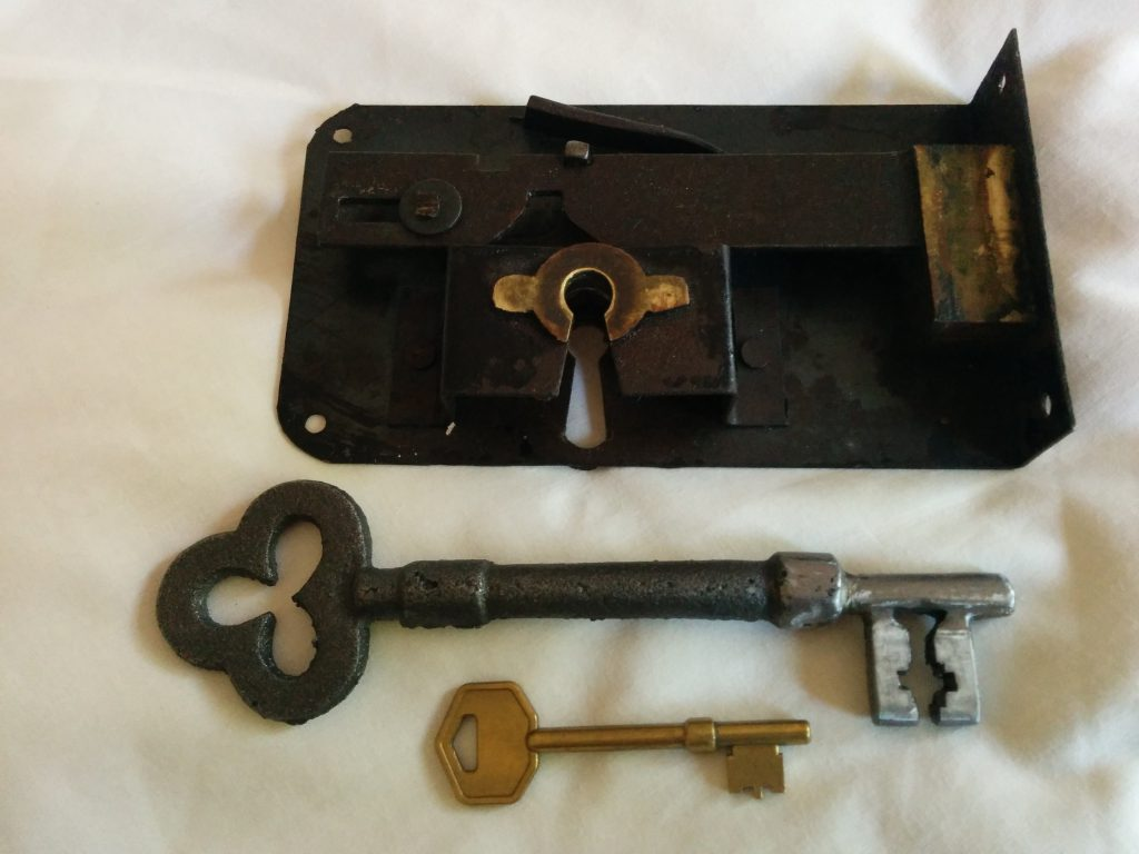 Antique mortice lock