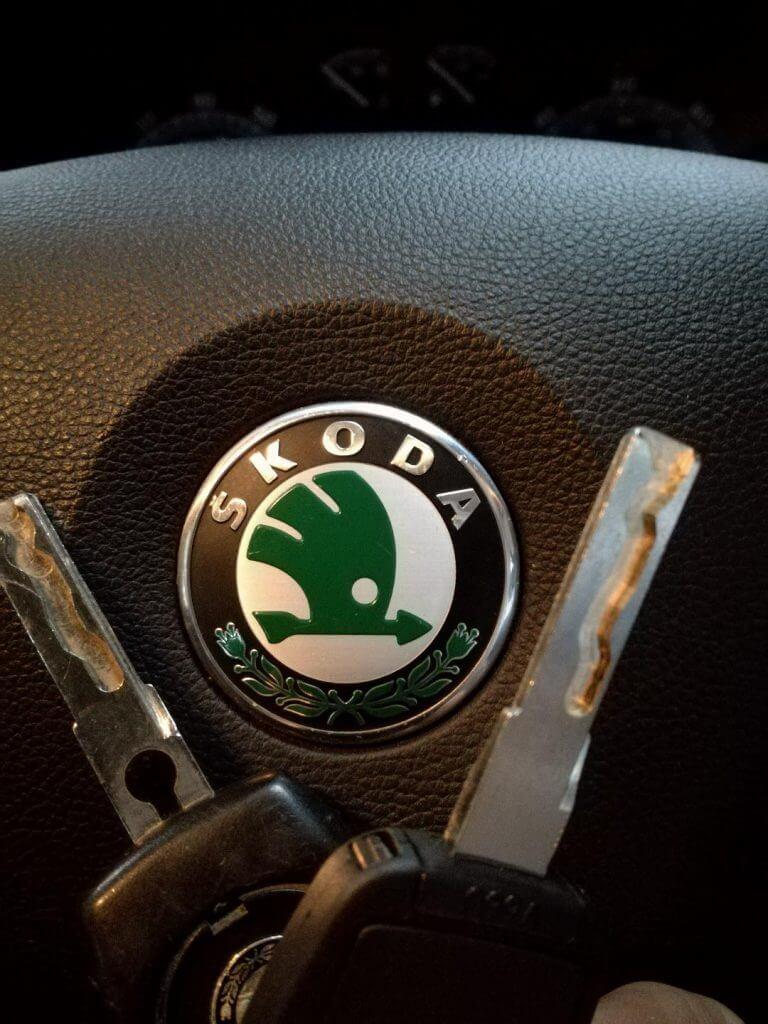 Replacement skoda key