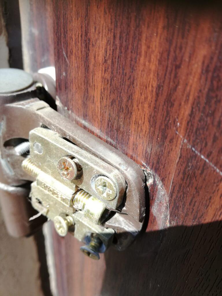 UPVC door hinge repair