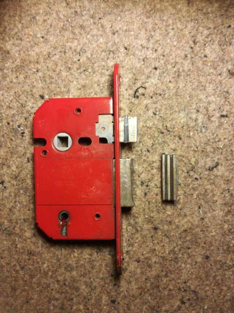 Mortice lock opening