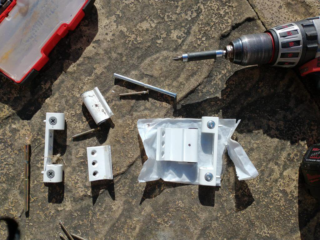 Snapped UPVC door hinge replacement