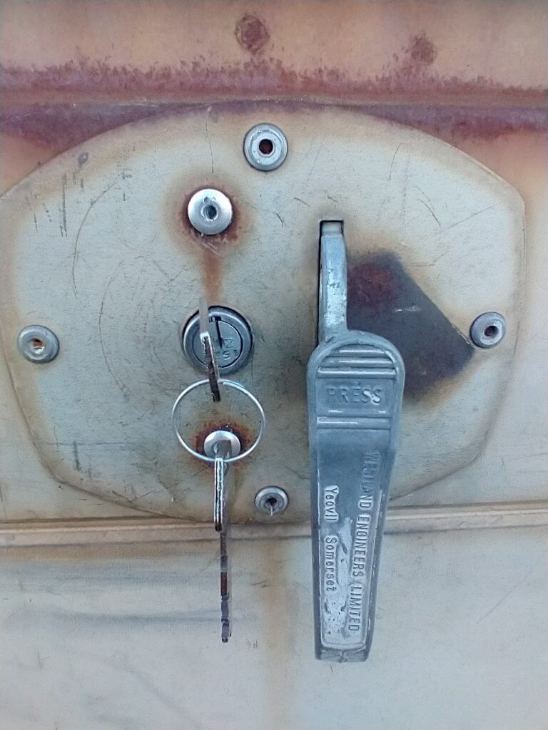 Replacement garage door lock