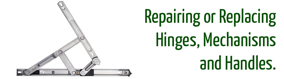 UPVC window hinge repair